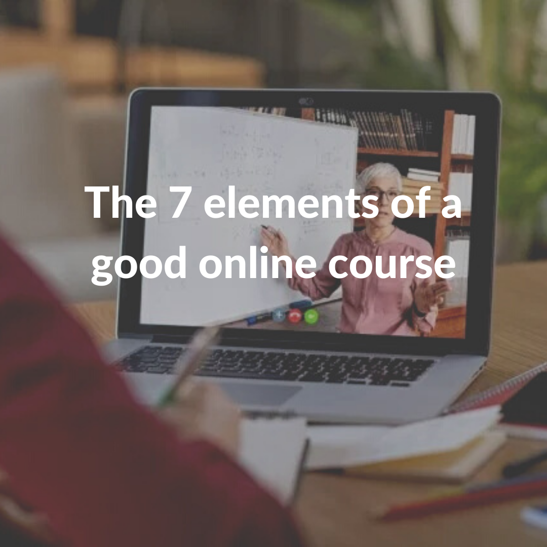The 7 elements of a good online course - George Veletsianos, Royal Roads University