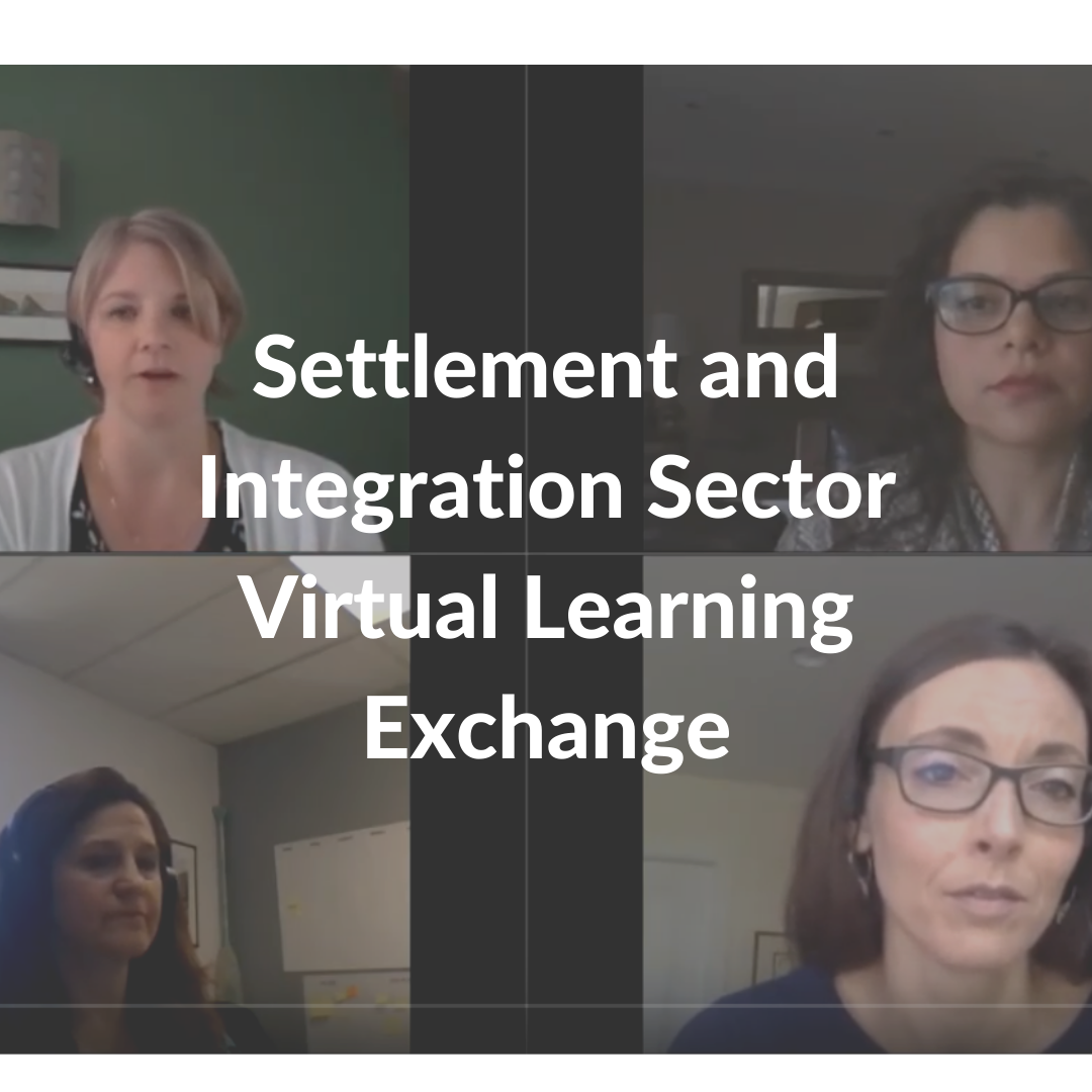 Settlement and Integration Sector Virtual Learning Exchange panel